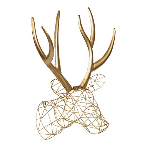 wire animal head wall decoration - 1
