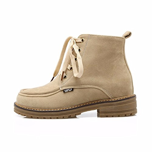 Student Shoes Boots RFF Ladies Boots Beige Martin Frosted 39 Size Boots Womens 8qqx645F