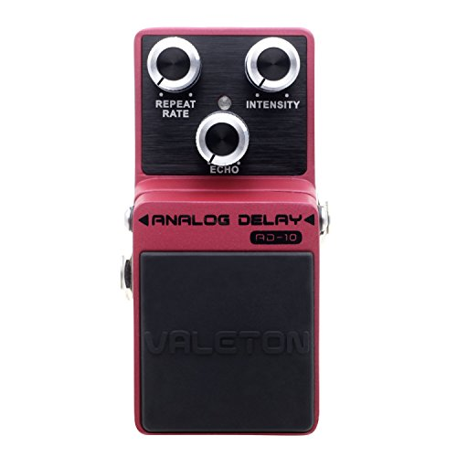 9 Delay Effect Analog Pedal (Valeton AD-10 Analog Delay Guitar Effect Pedal Buffer Bypass, Loft Series Zinc Alloy Die Cast)