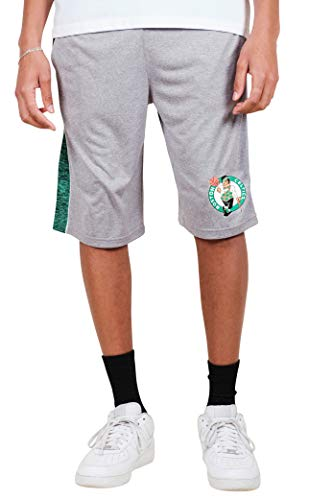 Ultra Game NBA Boston Celtics Men's Mesh Athletic Active Basketball Shorts, Heather Gray, Medium