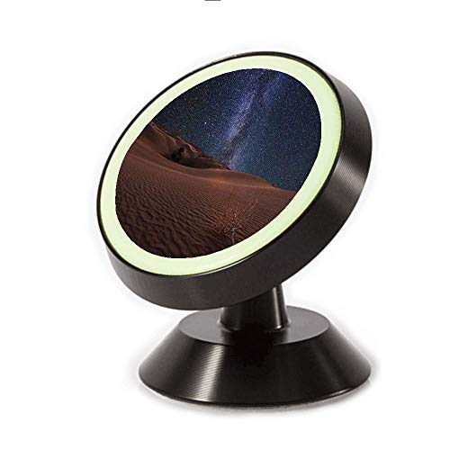 (Magnetic Dashboard Cell Phone Car Mount Holder,Surface of Gobi Desert Dune Oasis Lunar,can be Adjusted 360 Degrees to Rotate,Phone Holder Compatible All Smartphones )