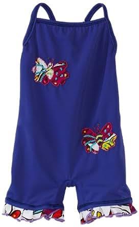 Submarine Baby Girls' Butterfly One Piece Swimwear, Fuchsia/White, 24 Months