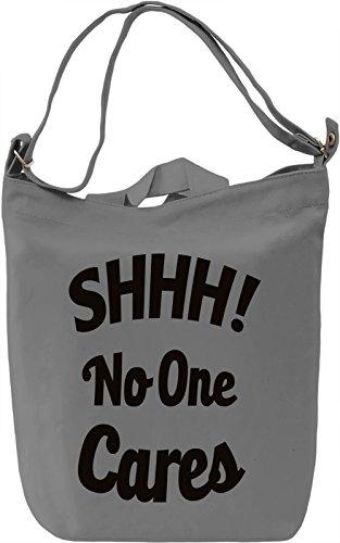No one Cares Borsa Giornaliera Canvas Canvas Day Bag| 100% Premium Cotton Canvas| DTG Printing|