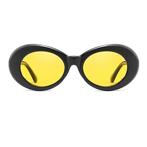 Lunettes épaisse ovales 9 de Yefree Noir jaune mod de style mode choix lunettes soleil rétro couleurs de Aqxfwd0n