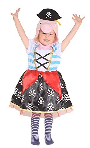 Peppa Pig Pirate Childs Tabard Costume Kids Girls Age 2 5 Years By