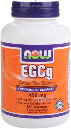 NOW Foods EGCg, extrait de thé vert, 400 mg, 180 gélules végétales