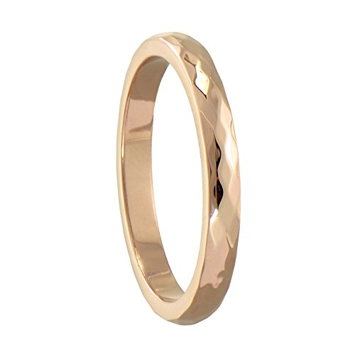 Paialco Women's Tungsten Diamond Cut Faceted Wedding Ring Band, Size 5 3mm Faceted Comfort Ring Band
