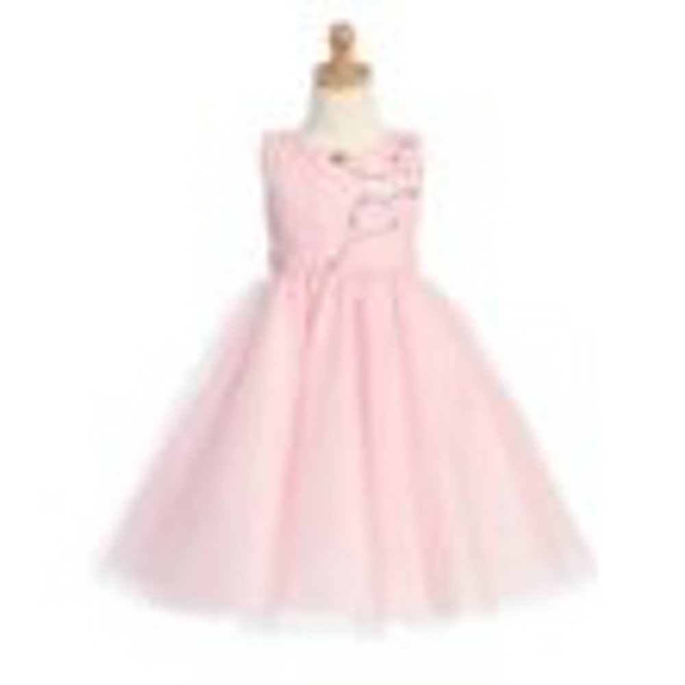 6-9 month Pink Embroidered Tulle Bodice with Tulle Skirt