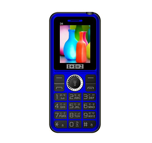 KECHAODA-ONEANTWO D6 Dual SIM Multimedia Mobile With Vibration(Black Blue)