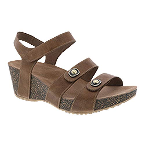 Dansko Women's Savannah Slide Sandals (Tan Waxy Burnished,38 EU/7.5-8 M US) ()