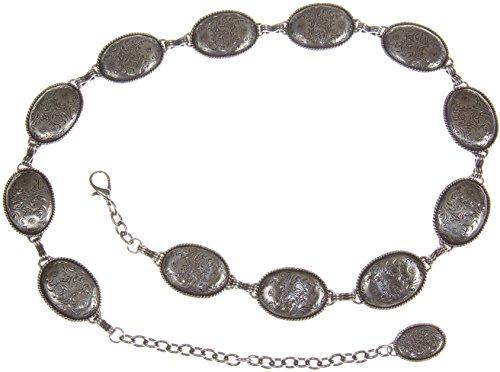 Silver Link Concho Belt (Women's Nicole Concho Link Belt)