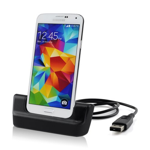 VicTsing USB 3.0 Dual Desktop Charger Charging dock Cradle Station with Battery Charger Slot for Samsung Galaxy S5 I9600