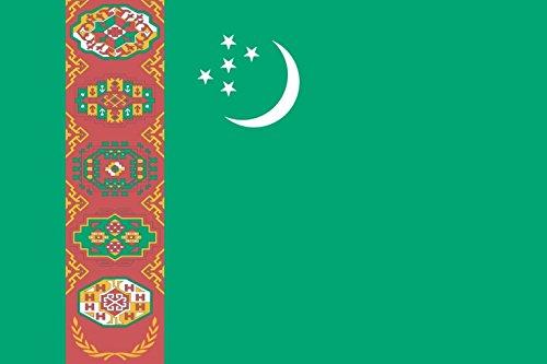 太田旗店 トルクメニスタン 国旗 地球にやさしい外国旗 (120×180cm) B07C2VMXLW   120×180cm