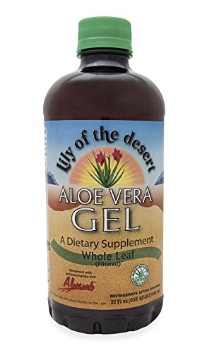 Lily of the Desert Aloe Vera Gel, Whole Leaf, 32 (Desert Whole Leaf Aloe)