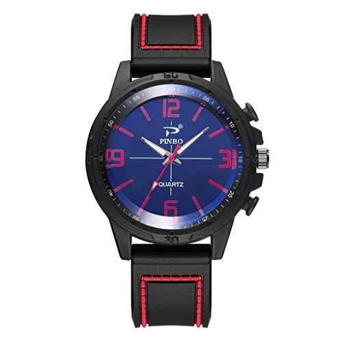 Wrist Watch for Men Under 10❤Men Soft Silicone Rubber Strap Sports Fashion Watch Simulated Quartz Watch ()