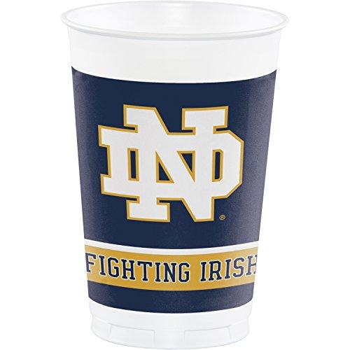 Notre Dame 20 oz Plastic Cups, 24 -