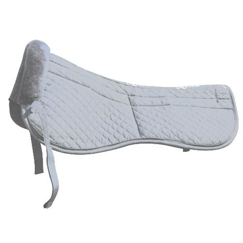 Intrepid International Saddle Fitting Half Pad with Removable Maxtra Foam, White