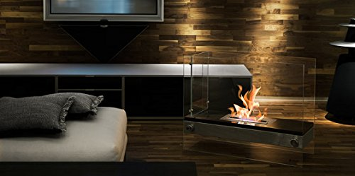 A Free Standing Ventless Fireplace