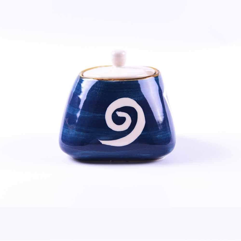 GyLazhuziz Japanese Fashion Ceramics Spice Jar, Seasoning Can Sugar Bowl ,Salt Condiment Herb Spice Lid Seasoning Box (Color : B)
