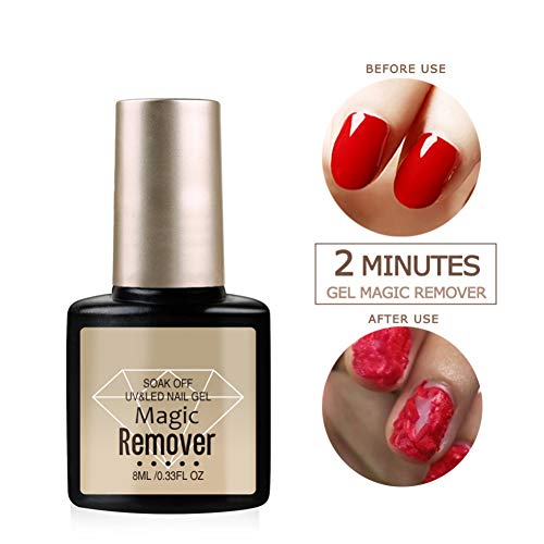 New Magic Non-corrosive Nail Polish Removal Gel, Taykoo Professional Soak-Off Gel Nail Polish Remover, Delete Primer Acrylic Clean Degreaser For Nail Art Lacquer, Easily & Quickly