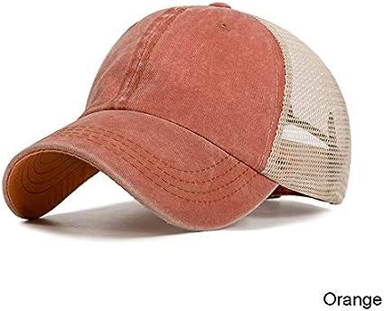 Desgastado Color s/ólido Retro Verano Sombrero para Mujer Zuanhiua Gorra de b/éisbol para Correr al/Aire Libre Sombrero Parque al Aire Libre Unisex Popular Lavado