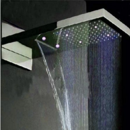 GOWE LED Luxury Waterfall Rain Shower Head Shower Faucet Thermostatic 4 Ways Mixer by Gowe (Image #3)