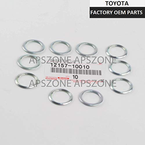 Toyota Oil Drain Plug Crushable Steel Gaskets Set of 10 OEM 12157-10010