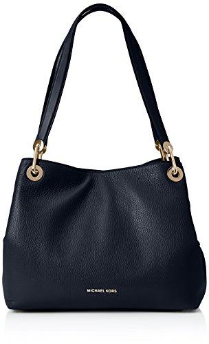 Michael Kors Women's Raven Large Leather Shoulder Bag, Admiral, OS