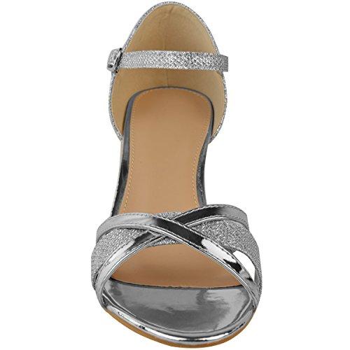 Da Fashion Sposa Argento Thirsty Sandali Punta Heelberry Aperta Tacco Cinturino Matrimonio Basso Womens Scarpe Ladies Cerimonia Con Metallizzato BvqrwBF