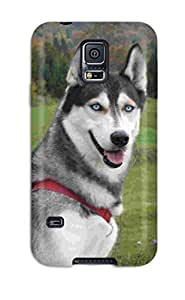 Galaxy S5 Case Cover - Slim Fit Tpu Protector Shock Absorbent Case (siberian Husky Dog )