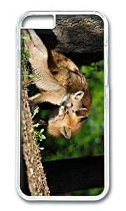 MOKSHOP Adorable fox family Hard Case Protective Shell Cell Phone Cover For Apple Iphone 6 (4.7 Inch) - PC Transparent