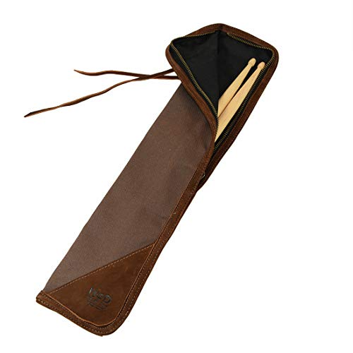 Hide & Drink, Waxed Canvas Drumstick Bag/Drummer Stick Bag Holder/Musician's Essentials Handmade :: Honey Bourbon