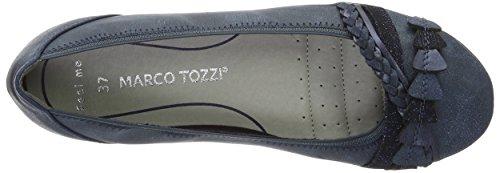 Marco Tozzi 22126, Bailarinas para Mujer Azul (Navy Ant.comb 820)