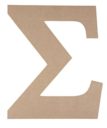 Wooden Greek Letter - Unfinished Wood Letter Sigma, Paintable Greek Font for DIY, Home, College, Sorority, Fraternity Decoration, 9.75 x 11.625 x 0.25 - Beta Letter Greek