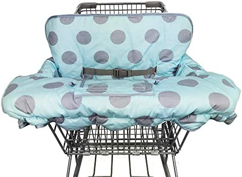 Cotton High Chair Cover Shopping Cart Cover for Baby Girl boy Toddler Large Green Anti-Slip Design Machine Washable for Infant Reversible