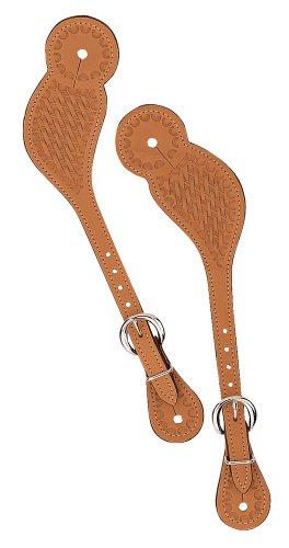 UPC 000399458222, Weaver Leather Basketweave Spur Straps, Regular, Honey