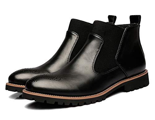 Pelle Stivali Nero Caldo Neve Inverno Stivaletti Martin Scarpe Chelsea Caviglia Stivali Moda da Uomo Classici Stivaletti Pi qtCPZwx