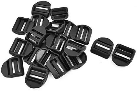DealMux plástica del Equipaje del Bolso adjustive Escalera tensión Hebillas de Cierre de 25 mm de Ancho de la Correa 20pcs