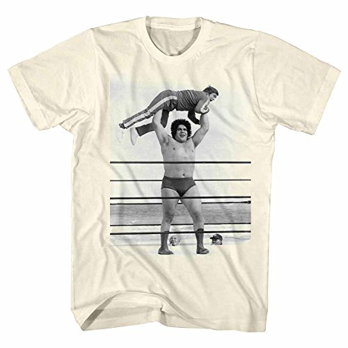 Andre The Giant WWE Eighth Wonder Of The World Lightweight Adult T-Shirt 3X by American Classics