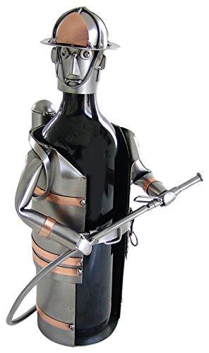 H & K Sculptures Fireman Wine Caddy, , (Fireman Wine)