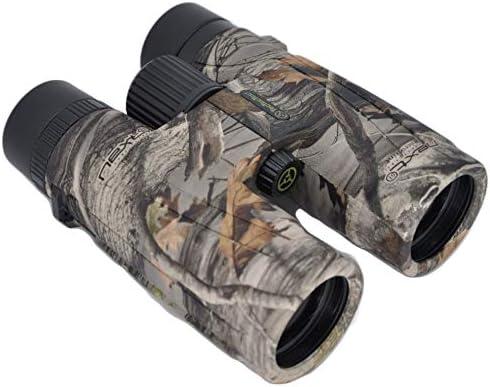 TecTecTec BPRO Wild 10×42 Binoculars Hunting Camo Outdoors Bird Watching HD Professional Binoculars for Bird Watching Travel Sports with Phone Mount Strap Carrying Bag