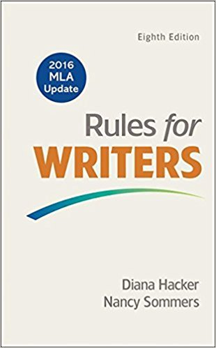 [1319083498] [9781319083496] Rules for Writers with 2016 MLA Update Eighth Edition-Spiral-bound