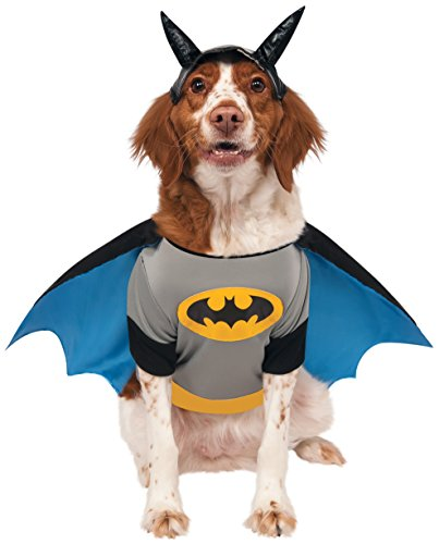 Pet Robin Costumes (DC Comics Pet Costume, X-Large, Batman)