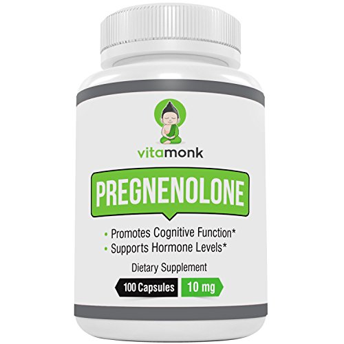Pregnenolone 10mg Capsules by VitaMonk – 100 Count – Supplement to Support Brain Power and Neuroplasticity For Sale