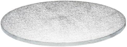 "14/"" inch ROUND silver cake drum /& white cake box set"