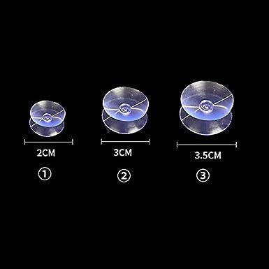 Double Face Aspiration Tasses Transparent Plastic Verre Table Entretoises sup/érieures Ventouse Tampons Pour Verre 10//20//30//50//100 Pcs Diam/ètre: 2cm 3cm 3.5cm KAIBSEN/®
