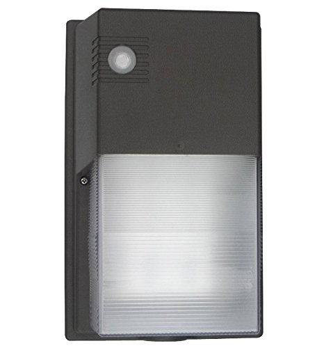 Mini Polycarbonate LED Wall Pack - Built-in photcell, durable and economical solution for outdoor perimeter and area lighting with wide lateral spacing. High efficiency, long-life LEDs (4000 Kelvin) by Cost Less Lighting