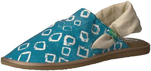 Sanuk Enamel M Lauren Women's Cruz Yoga Blue Sling 09 Sandal Print Us FwFqrYg