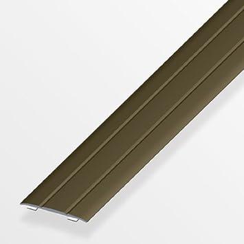 Teppich UVM Aluminium Silber eloxiert Vinyl L/änge 100 cm | Boden-Profil flach 1 St/ück Breite 37 mm Boden-Schiene Alu Gedotec /Übergangsprofil selbstklebend /Übergangs-Schiene Laminat