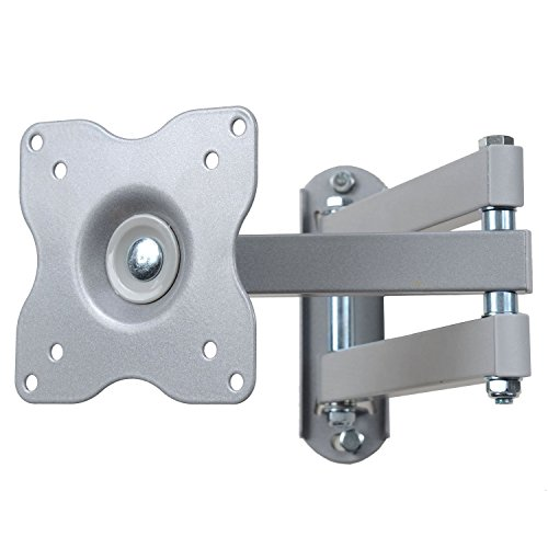 "VideoSecu Swing Articulating Arm TV Wall Mount Bracket for 12""-24"", some models up to 26"" 27"",with VESA 100/75mm Flat Panel Screen TV and Monitors Silver A2D"